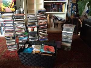 Alle CDs vor der Sortiertung.