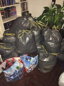 Müllsackhaufen aktuell
